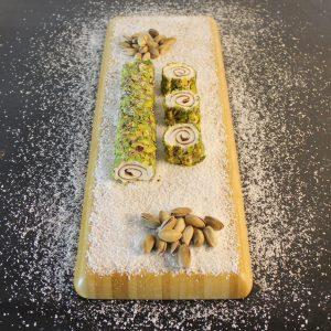 Çikolatalı fıstıklı paşa sarma lokum